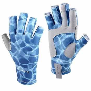 Palmyth UV Protection Fishing Fingerless Gloves UPF50+ Sun Gloves